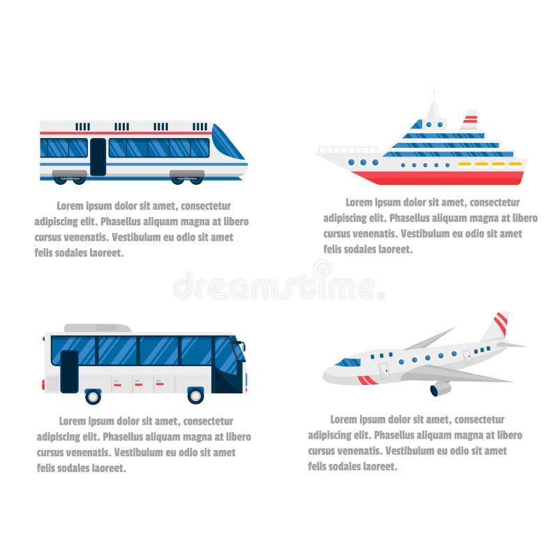 运输路和空气infographic传染媒介 库存例证