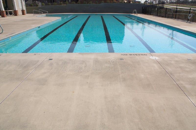 运输路线池游泳 免版税库存图片
