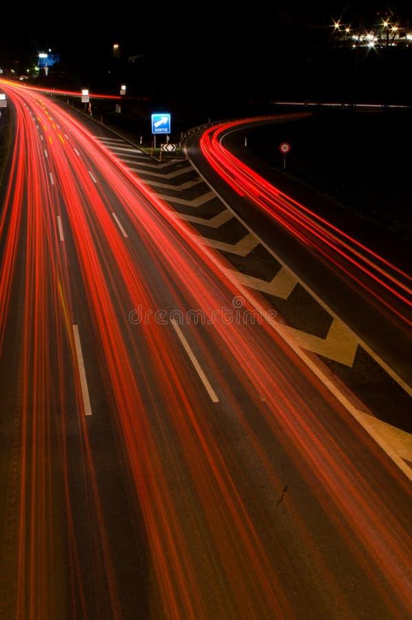 运输路线红色 免版税库存照片