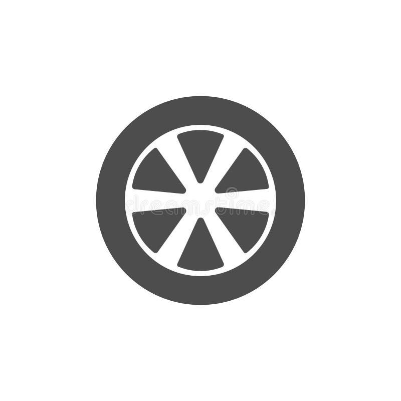 运输轮胎象 传染媒介例证,平的设计 库存例证