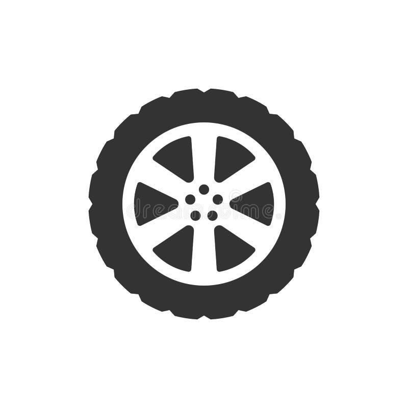 运输轮胎象 传染媒介例证,平的设计 皇族释放例证