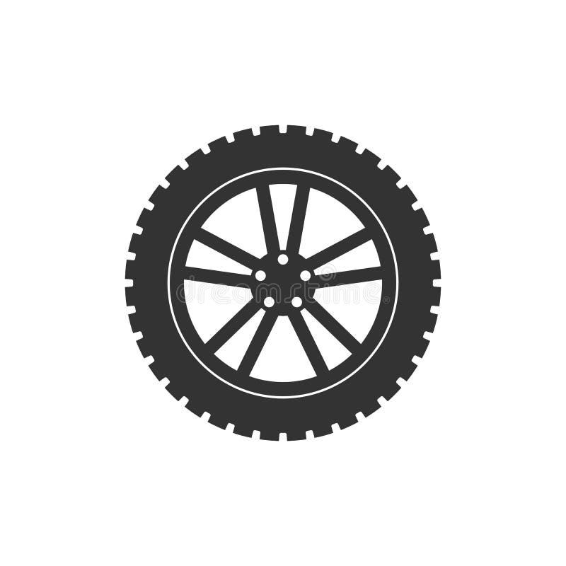 运输轮胎象 传染媒介例证,平的设计 向量例证