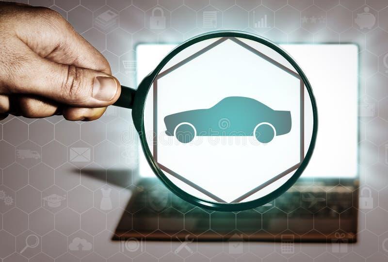 运输,交付,汽车购买,租,出租汽车 向量例证