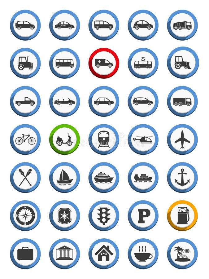 运输,船舶和旅行象 向量例证