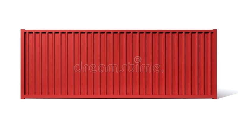 运输货柜红色 皇族释放例证