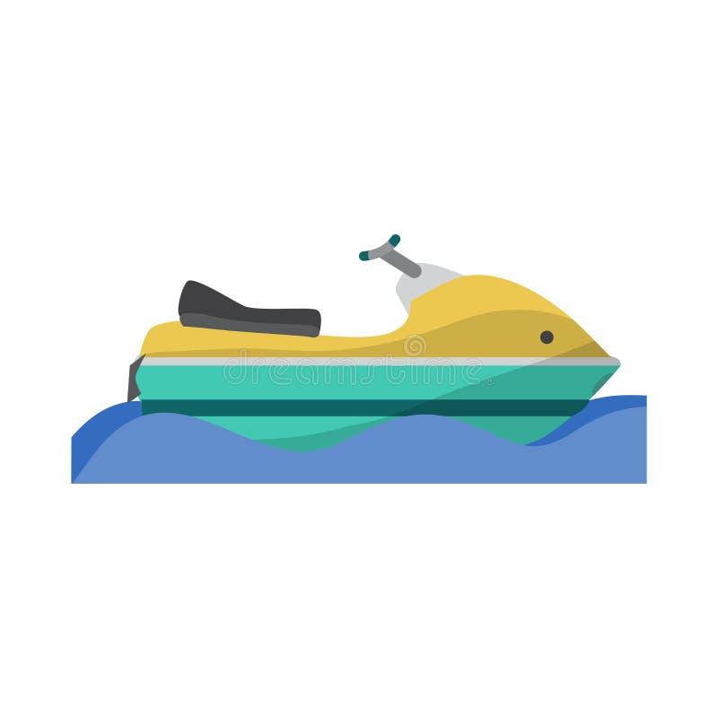 水运输滑行车,喷气机滑雪小船 皇族释放例证