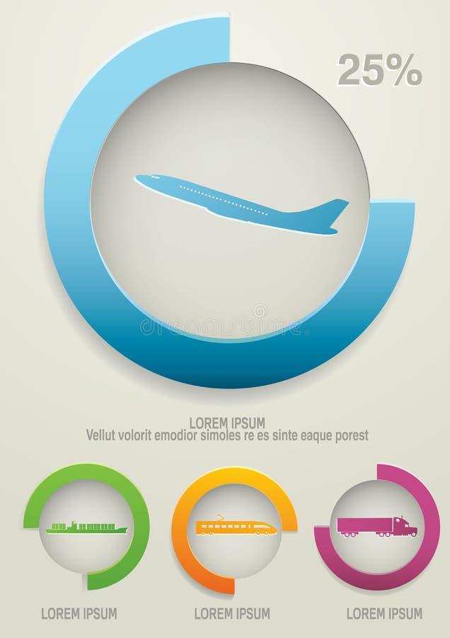 运输infographics 向量例证