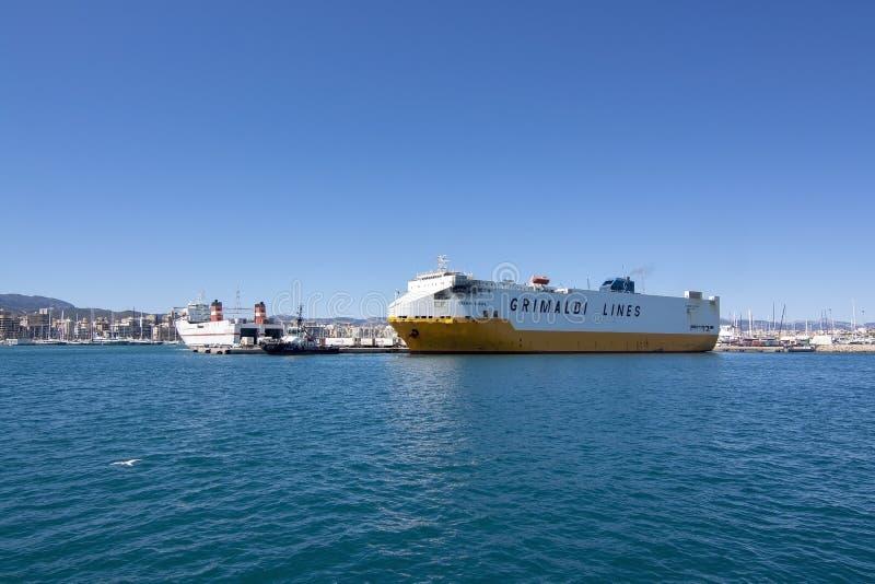运送船重创的欧罗巴巴勒莫帕尔马 库存照片