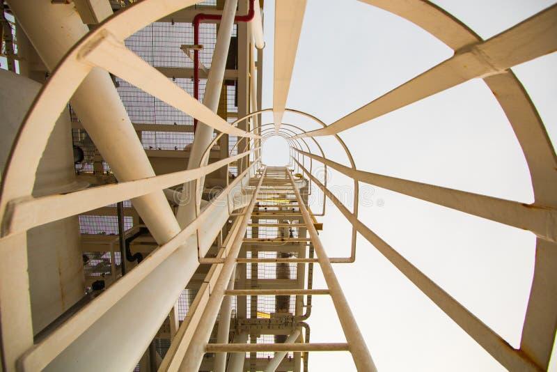 近海产业油和煤气生产 免版税库存图片