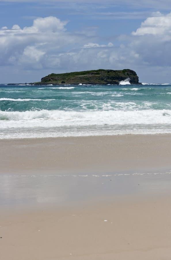 近海处海岛 库存照片