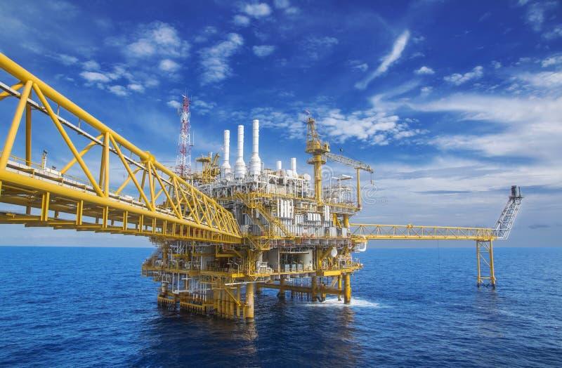 近海气体生产flatform 库存图片