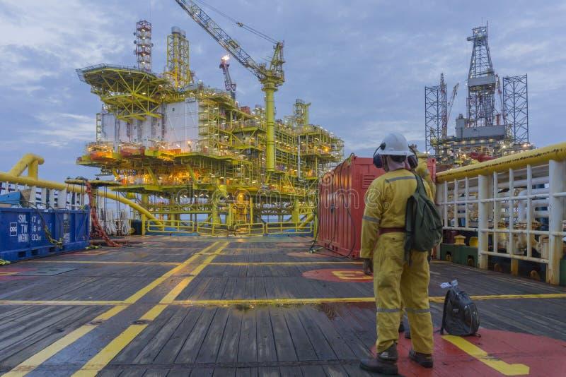 近海油和煤气产业生活方式 免版税库存图片