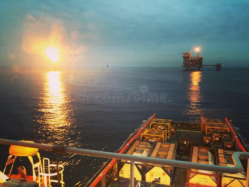 近海货物操作 免版税图库摄影