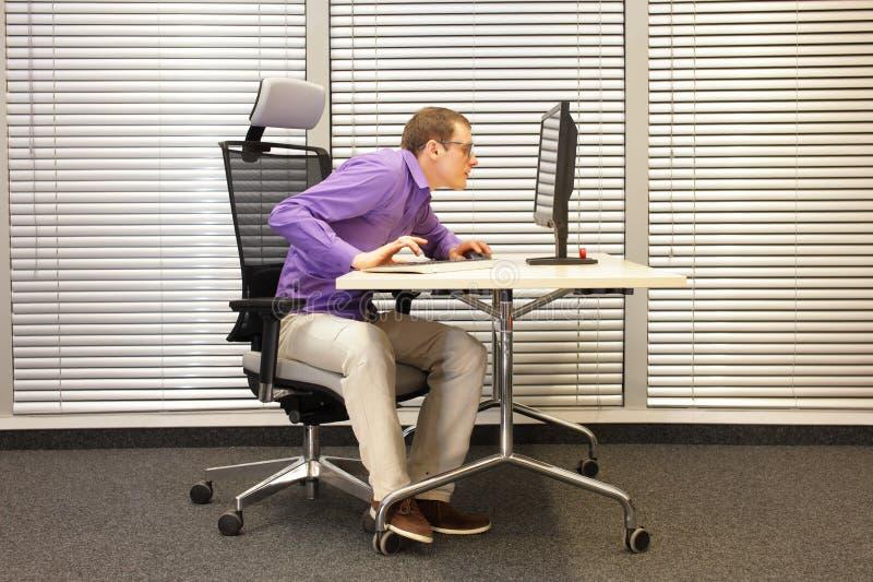 近视眼,近视,计算机的人 免版税库存照片