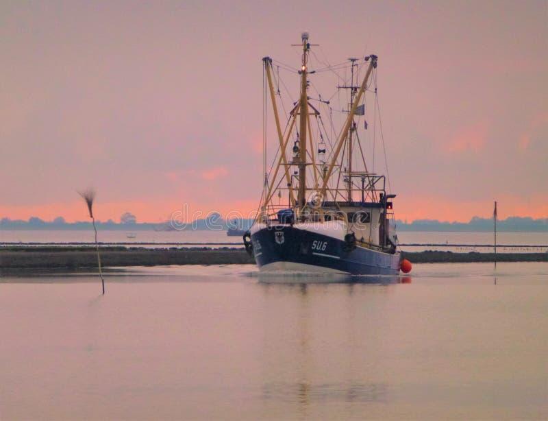 返回从北海的船 图库摄影