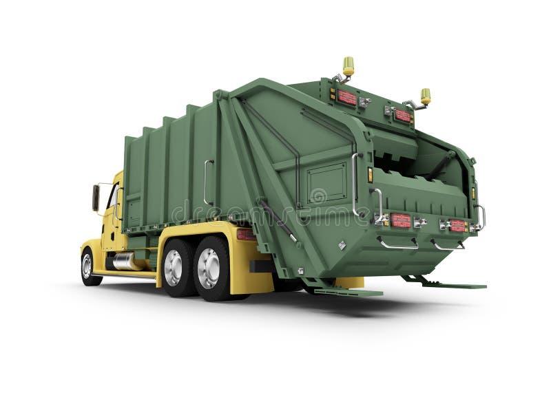返回查出trashcar视图 向量例证