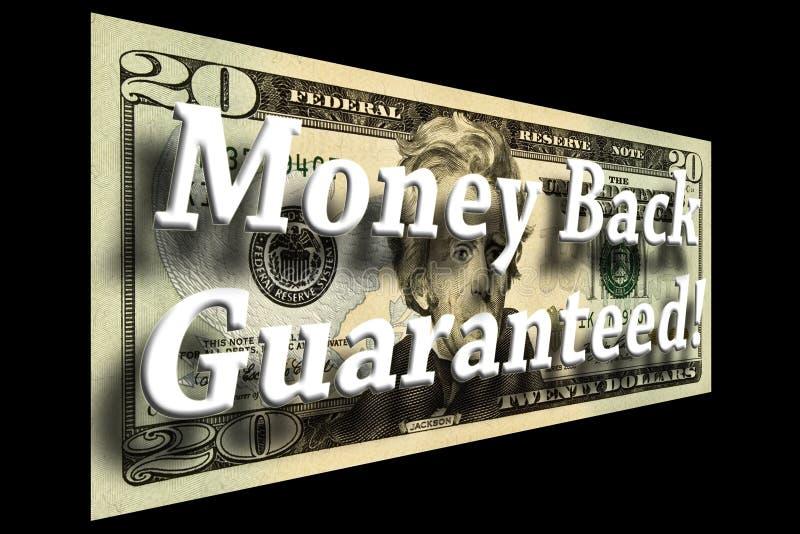 返回概念保证的货币 向量例证