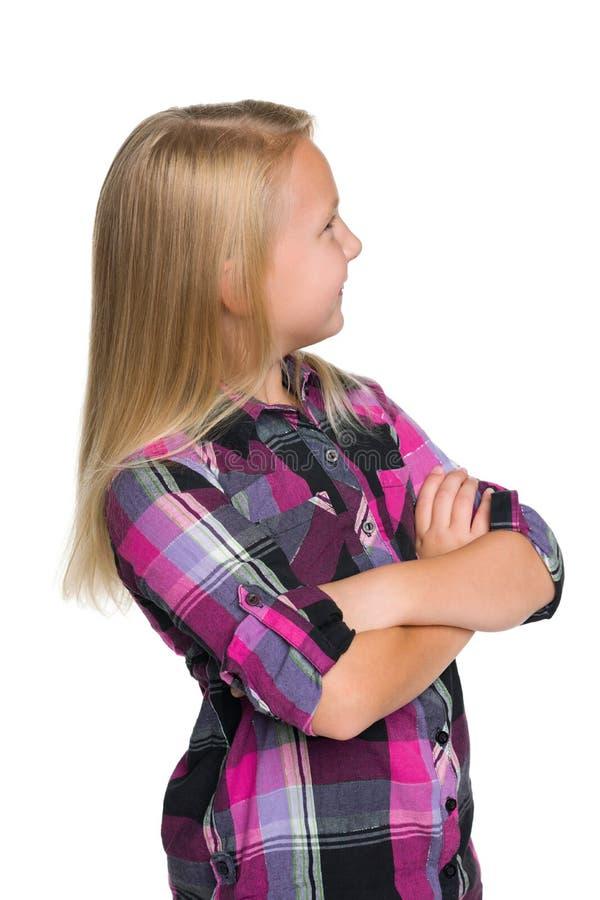 从返回的小女孩 免版税库存图片