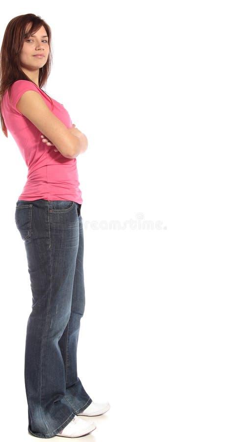 返回被放置的妇女年轻人 免版税图库摄影