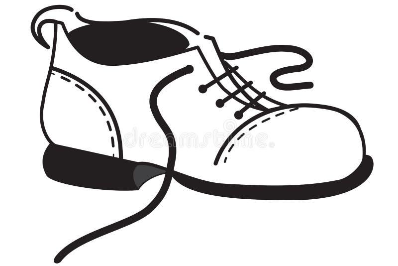这一双鞋子的概述 向量例证