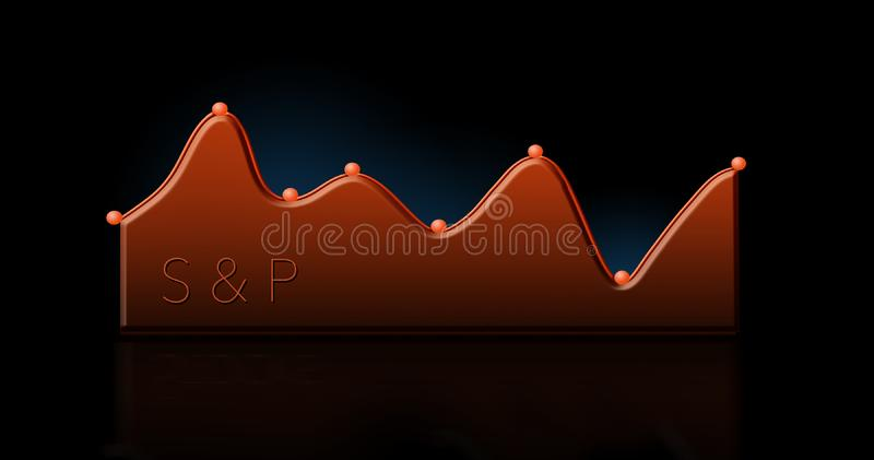 这一张现代股票市场图,图表 向量例证