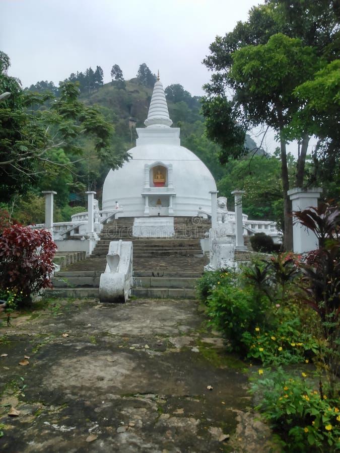 这个图象是日本寺庙在斯里兰卡的walapane 库存图片