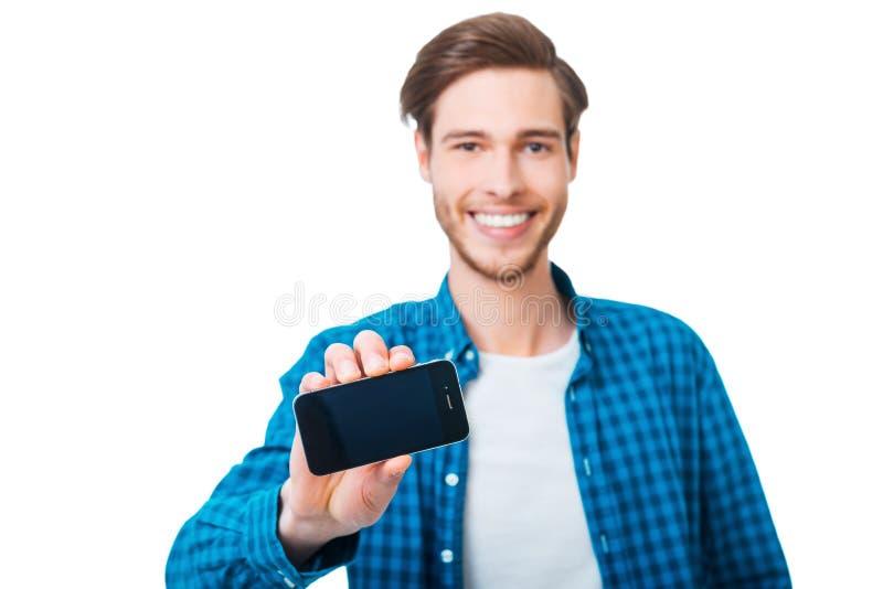 这个巧妙的电话可以是你的 免版税库存图片