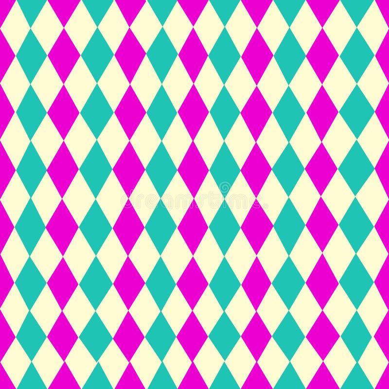 这个惊人的几何样式是菱形madThis惊人的几何pattere  在样式,有颜色:桦树,丁香 向量例证