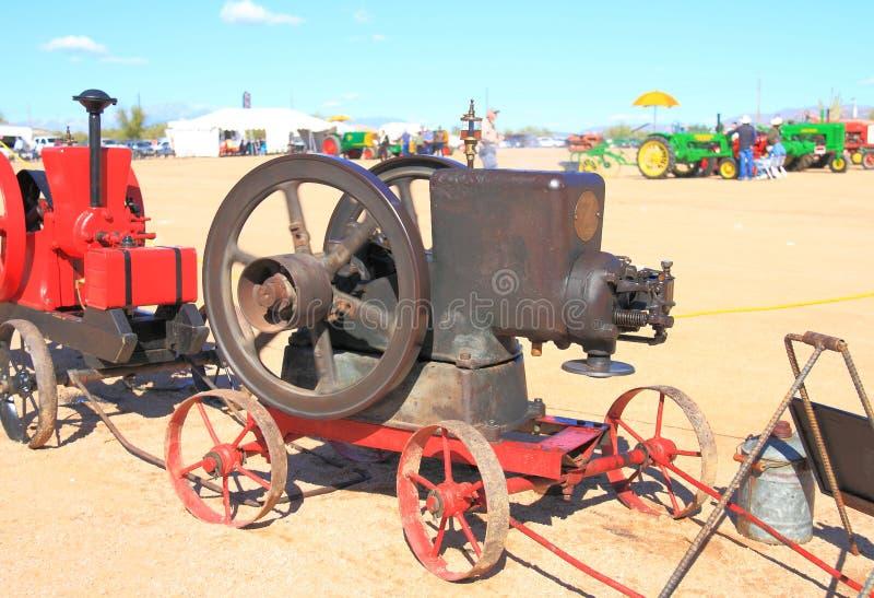 古色古香的美国飞轮引擎: 费尔班克斯莫尔斯 免版税库存照片