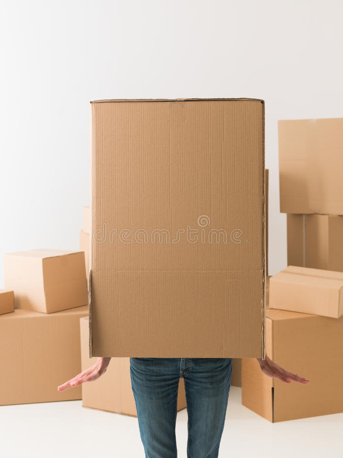 这个箱子适合我完善 免版税库存照片