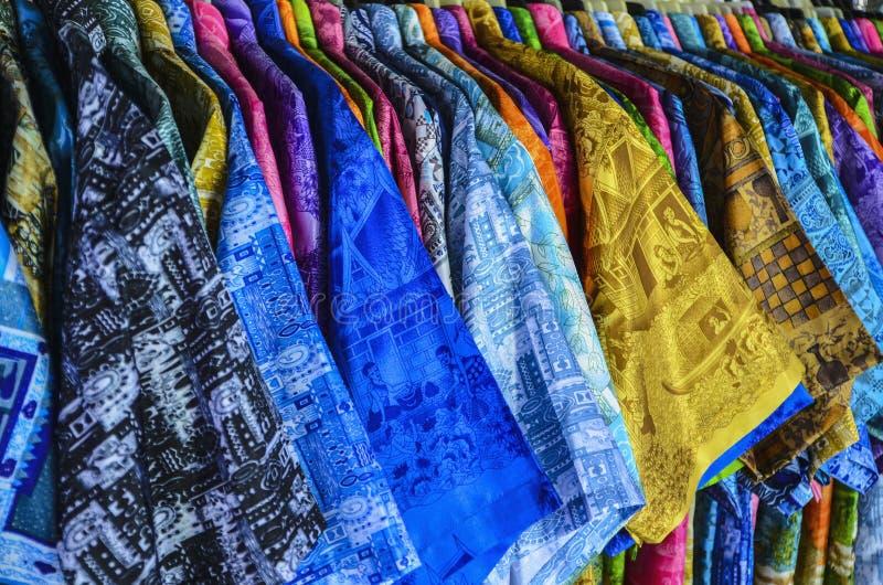 这五颜六色的衣物泰国 免版税库存照片