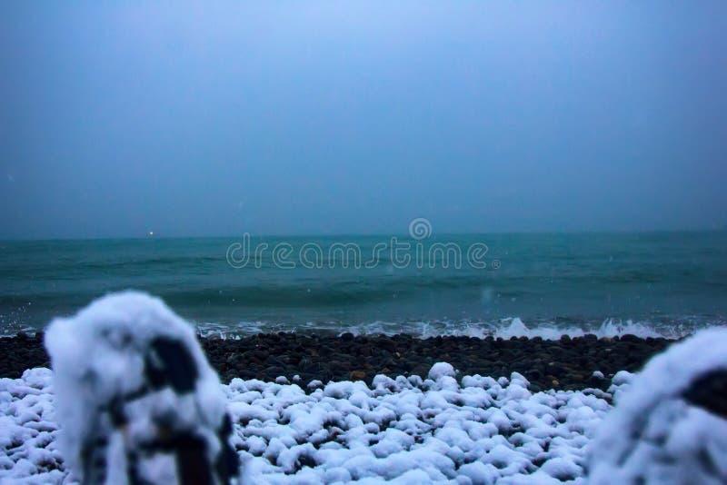 这些脚到达了科尔基斯对东部岸Euxine (黑海) 库存照片