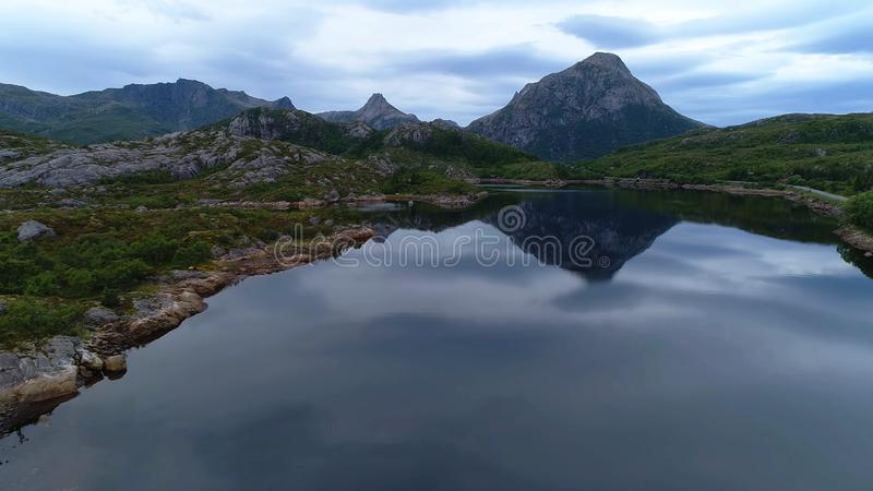 这变化莫测的挪威 库存照片