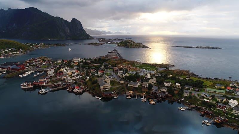 这变化莫测的挪威 库存图片