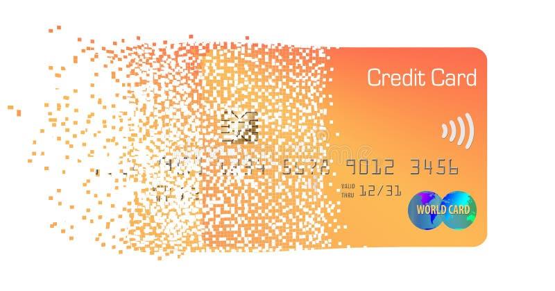 这在背景隔绝的轻拍n薪水普通预付的信用卡 库存例证
