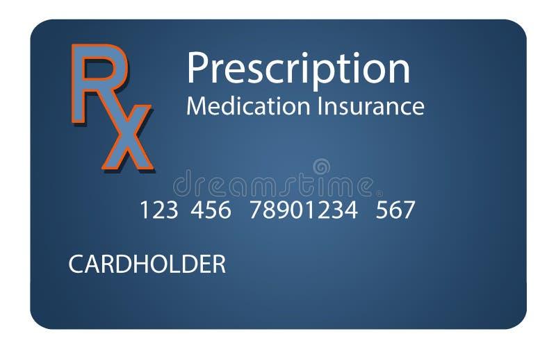这处方药保险卡片 它是例证 库存照片