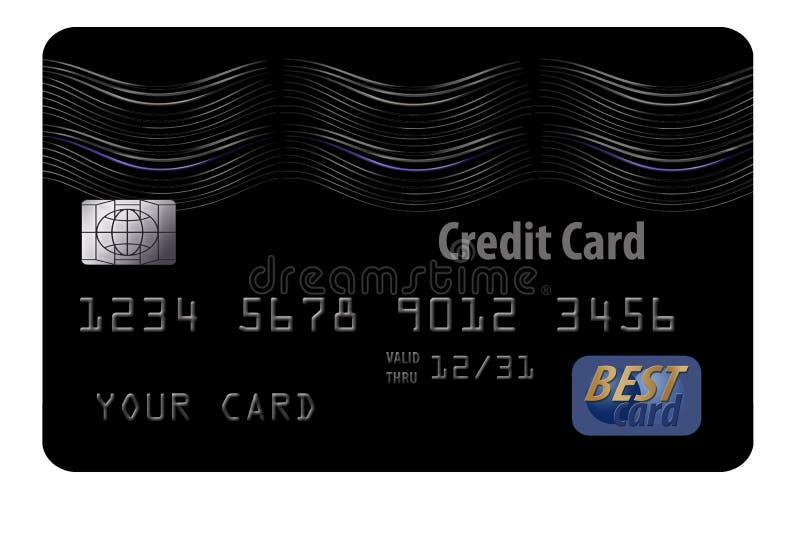 这是一张普通黑信用卡 向量例证