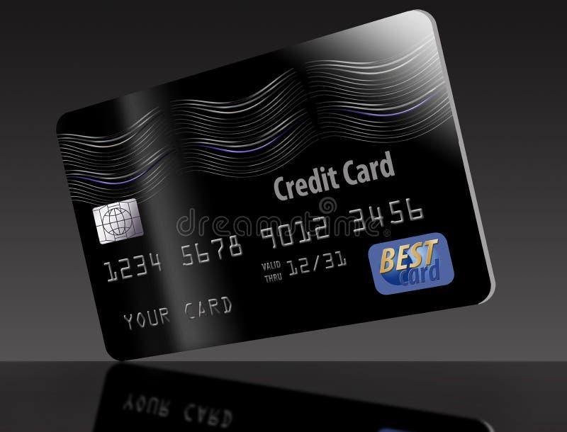 这是一张普通黑信用卡 库存例证