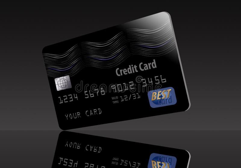 这是一张普通黑信用卡 皇族释放例证