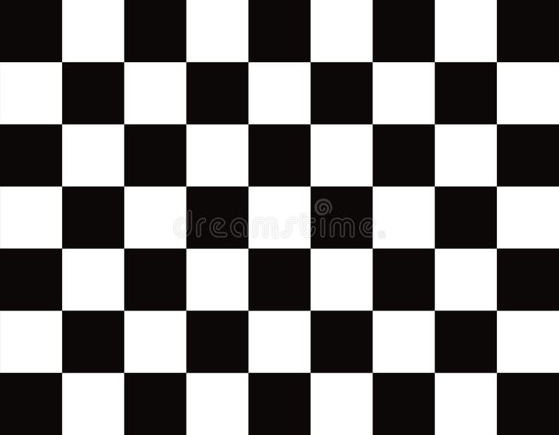 这是一面真正的方格,完成的旗子 库存图片