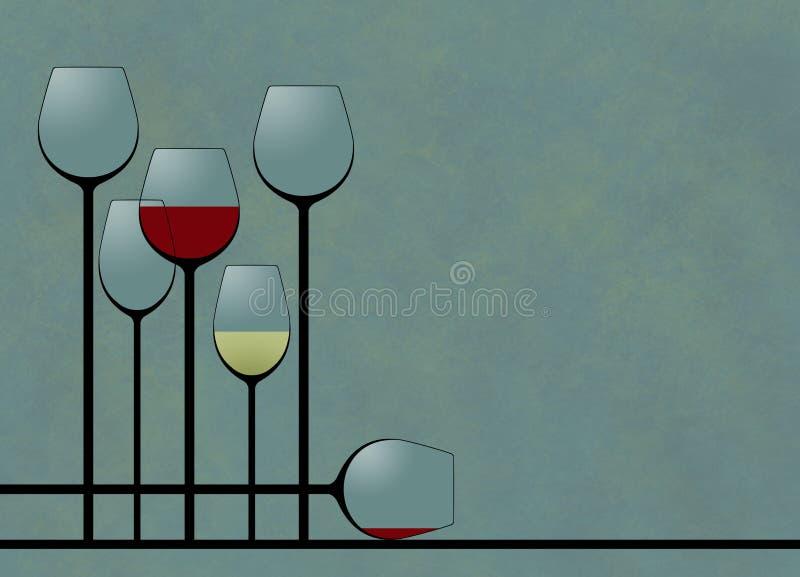 这是例证陈列器皿,非常在典雅的构成的高酒杯 库存例证