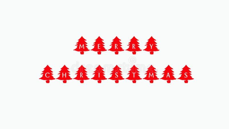 这是圣诞快乐的图象引述 库存例证