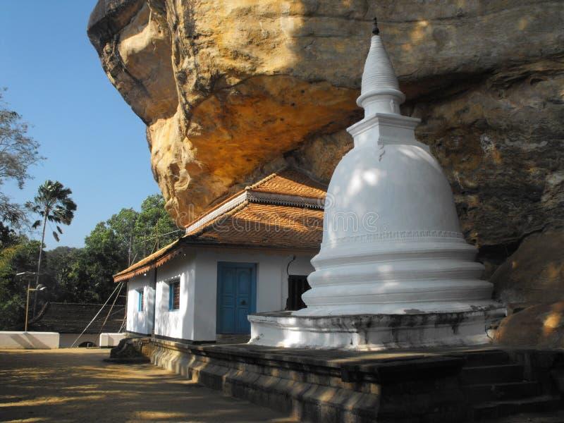 这是斯里兰卡的图象美丽的寺庙 库存照片