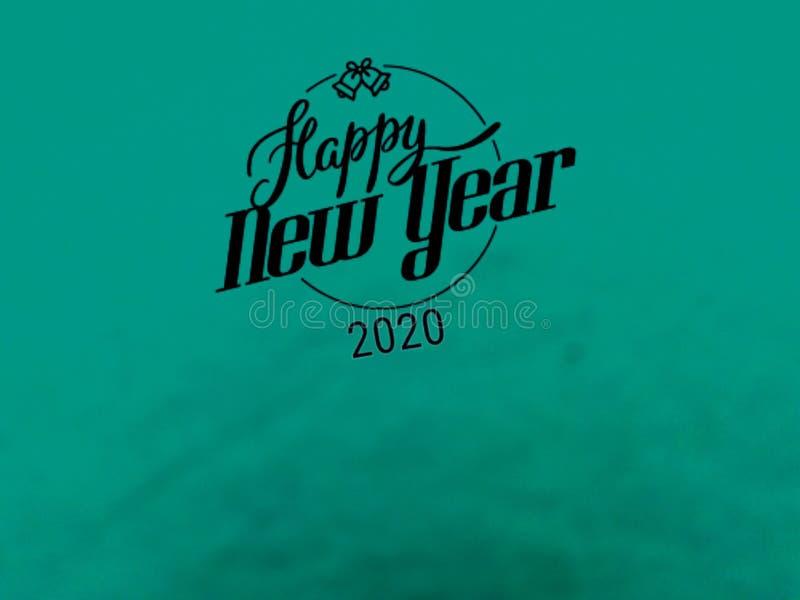 这是新年快乐2020年,传染媒介礼品券  皇族释放例证