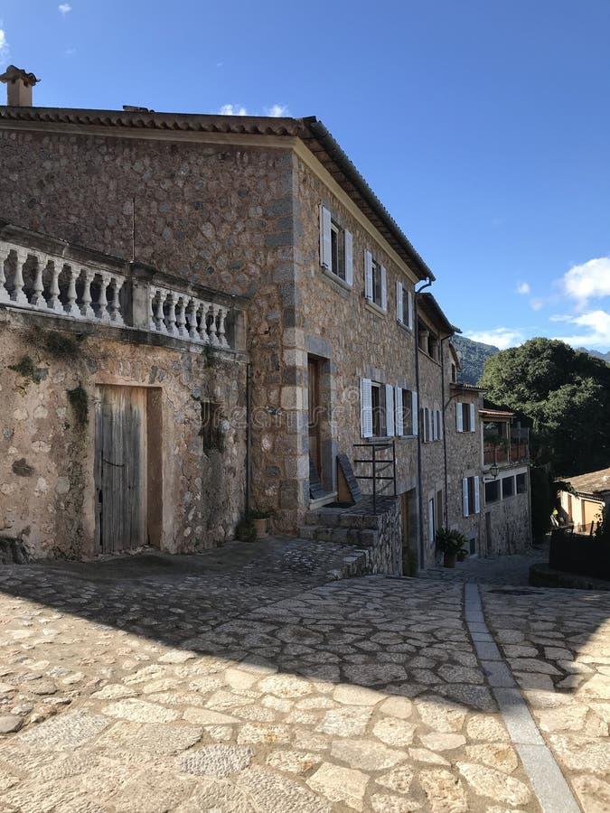 这是村庄, Biniaraix村庄 图库摄影