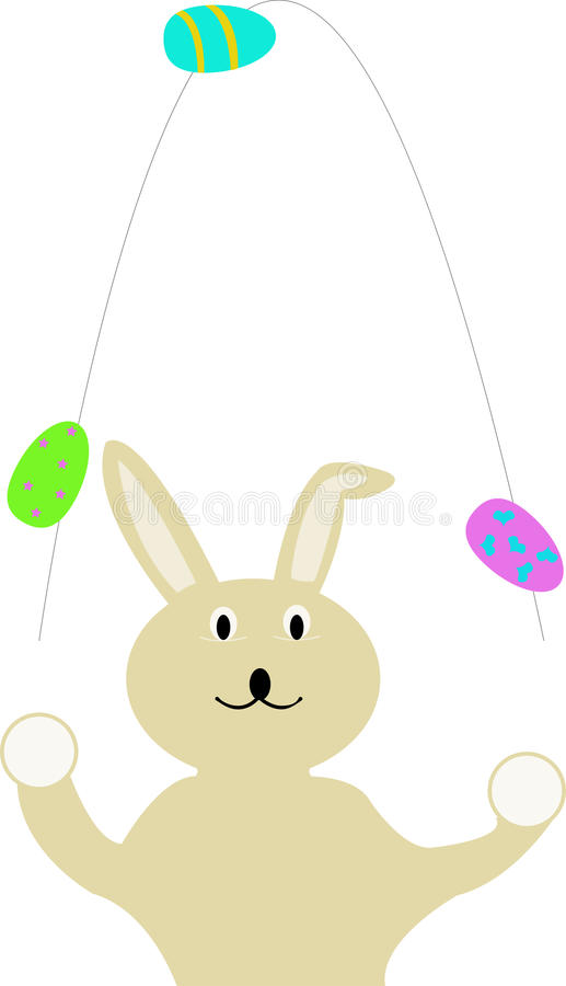 复活节兔子玩杂耍 皇族释放例证