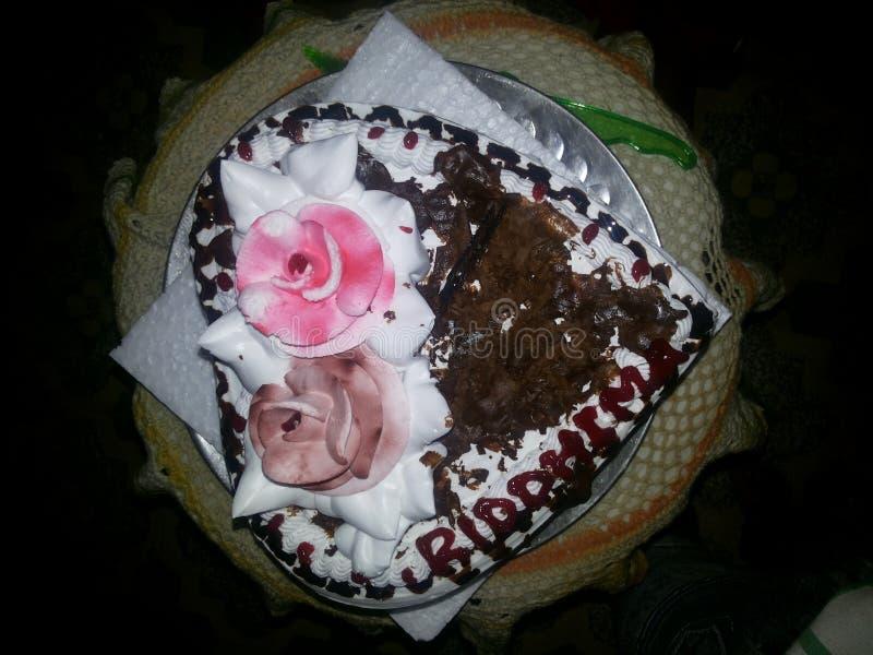 这是生日蛋糕 库存图片