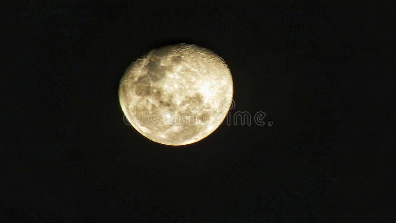 这月亮有从我的照相机的捕获在星期六晚上 图库摄影