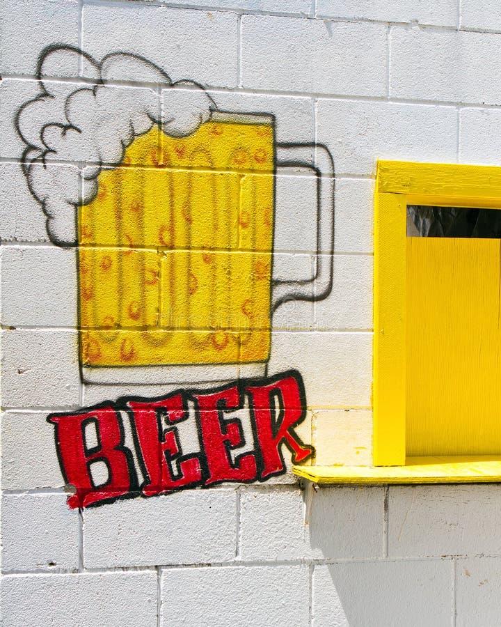 这里啤酒 免版税库存图片