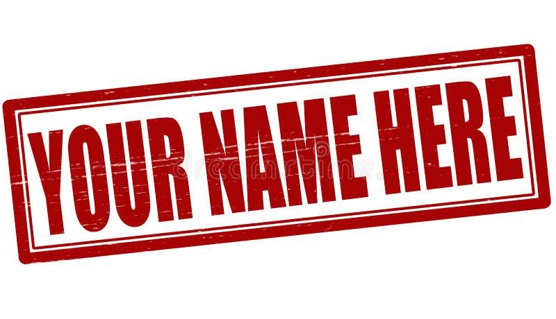 这里您的名字 向量例证